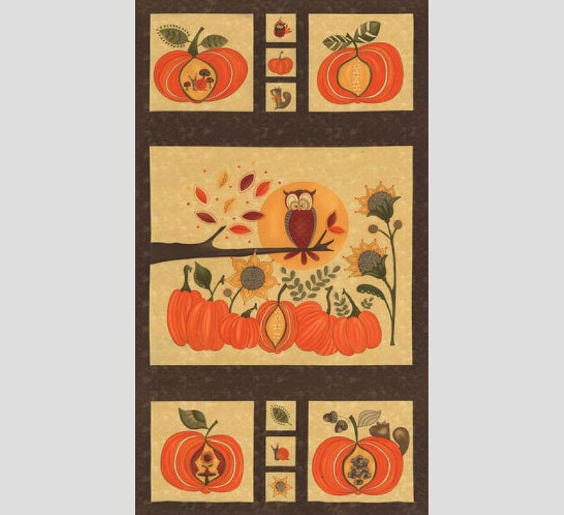 Hello Fall by Sandy Gervais QUILT PANEL