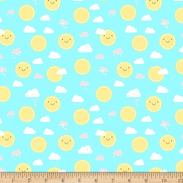 Wilmington Prints - Little Sunshine by Pink Chandelier - Aqua