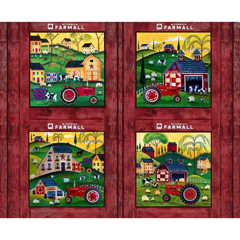 Print Concepts, Inc - Farmall Folk Art Pillow Panel
