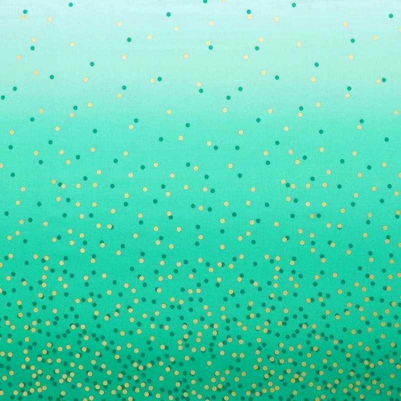 Moda Ombre Confetti Metallic Teal