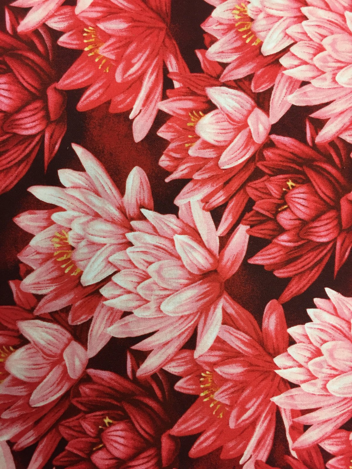 Clothworks Water Lilies Red