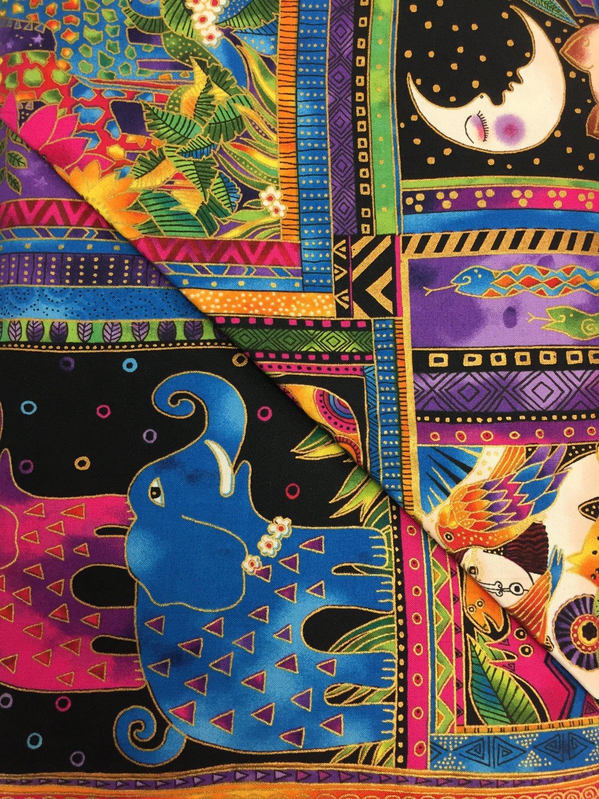 Clothworks Mythical Jungle Black Metallic