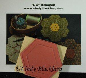 3/4 Hexagon Stamp