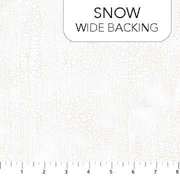 108 Wide Crackle Snow B9045-10