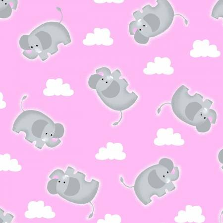 COMFY FLANNEL - PINK ELEPHANTS