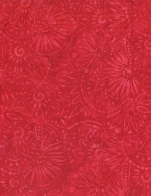 WILMINGTON BATIKS -  RED MEDALLIONS