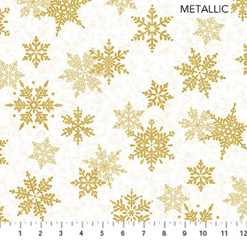 SHIMMER FROST - LARGE SNOWFLAKE WHITE GOLD
