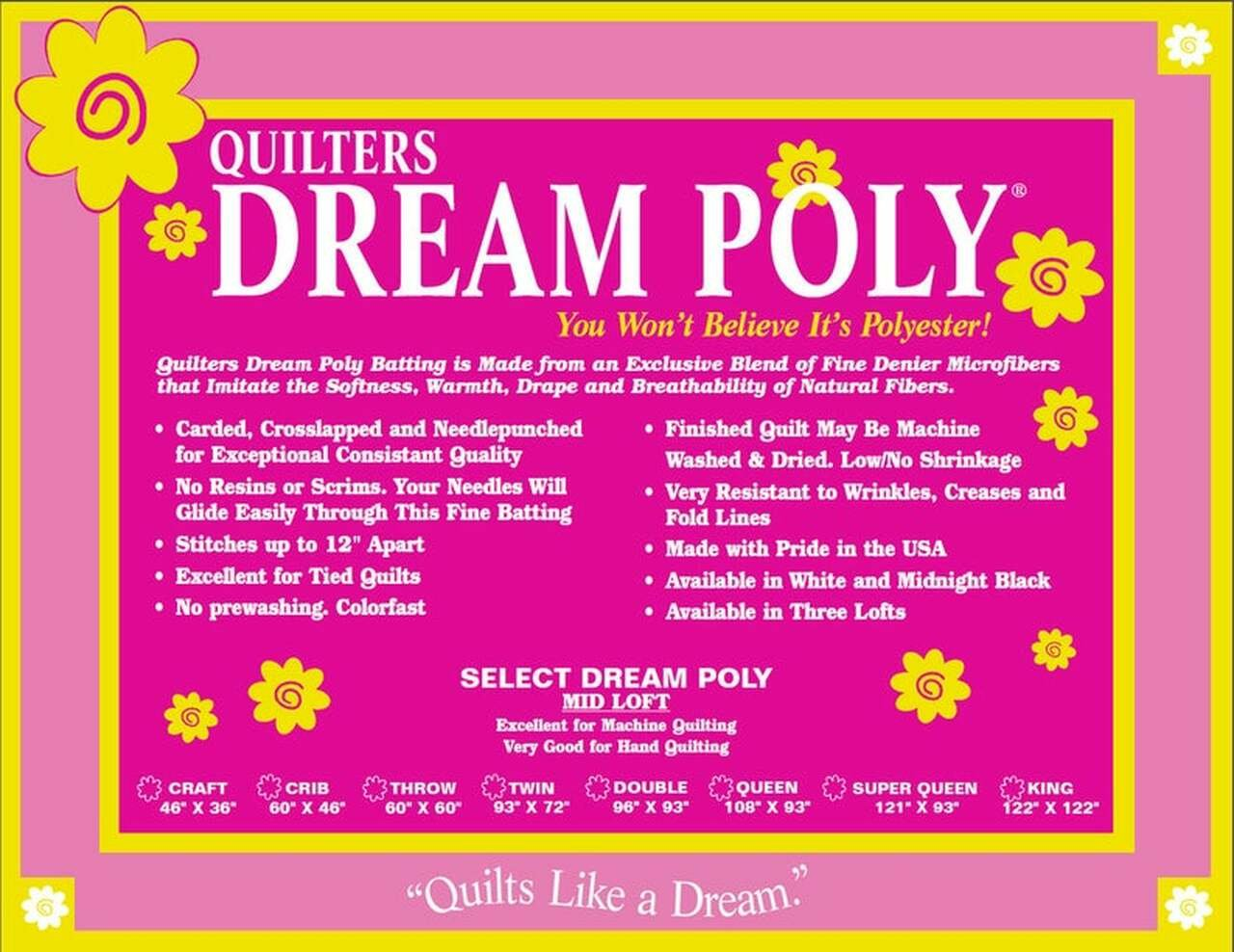 Quilter's Dream Poly Select 92 White MID LOFT