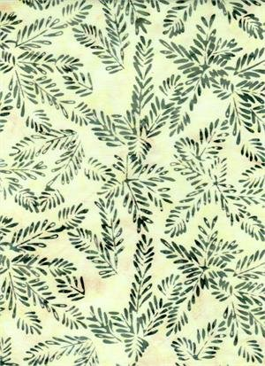 BATIK TEXTILES - LEAVES ON CREAM