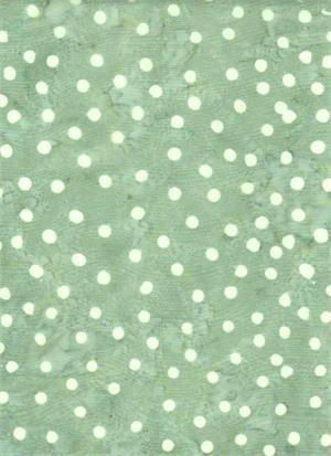 BATIK TEXTILES - DOTS ON SOFT GREEN