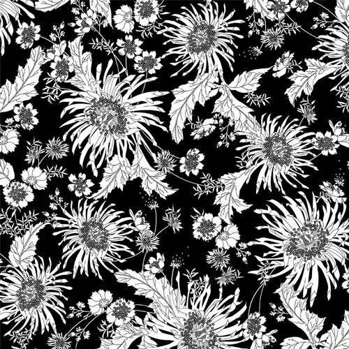 108 BLOOM - BLACK/WHITE