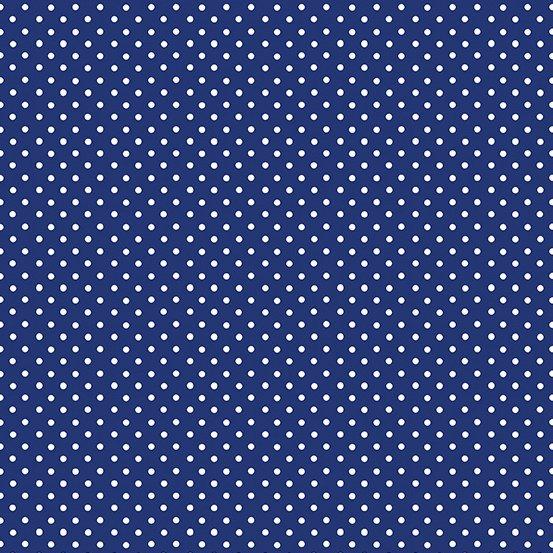 POLKA DOTS -DARK BLUE/WHITE