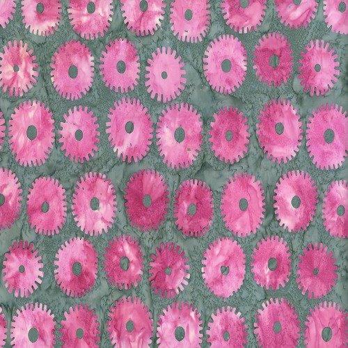 ARTISAN-SAW-CIRCLES-PINK BATIK