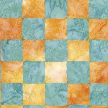 ARTISAN YELLOW CHESS BATIK