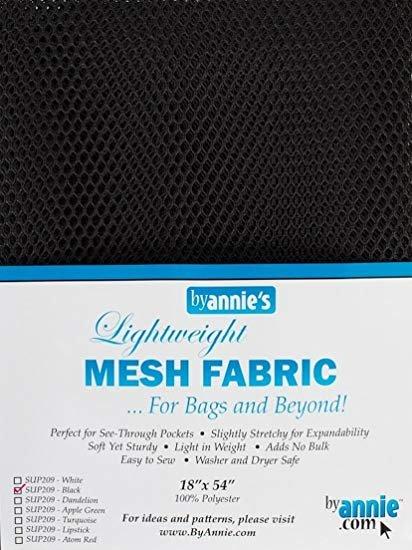 MESH FABRIC BLACK