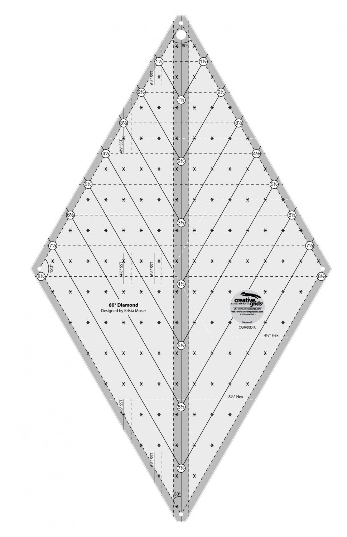 CG 60 degree DIAMOND RULER