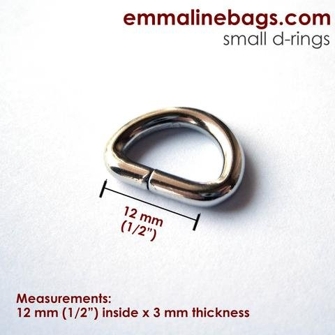 D-RINGS 1/2  NICKEL - 4 PACK