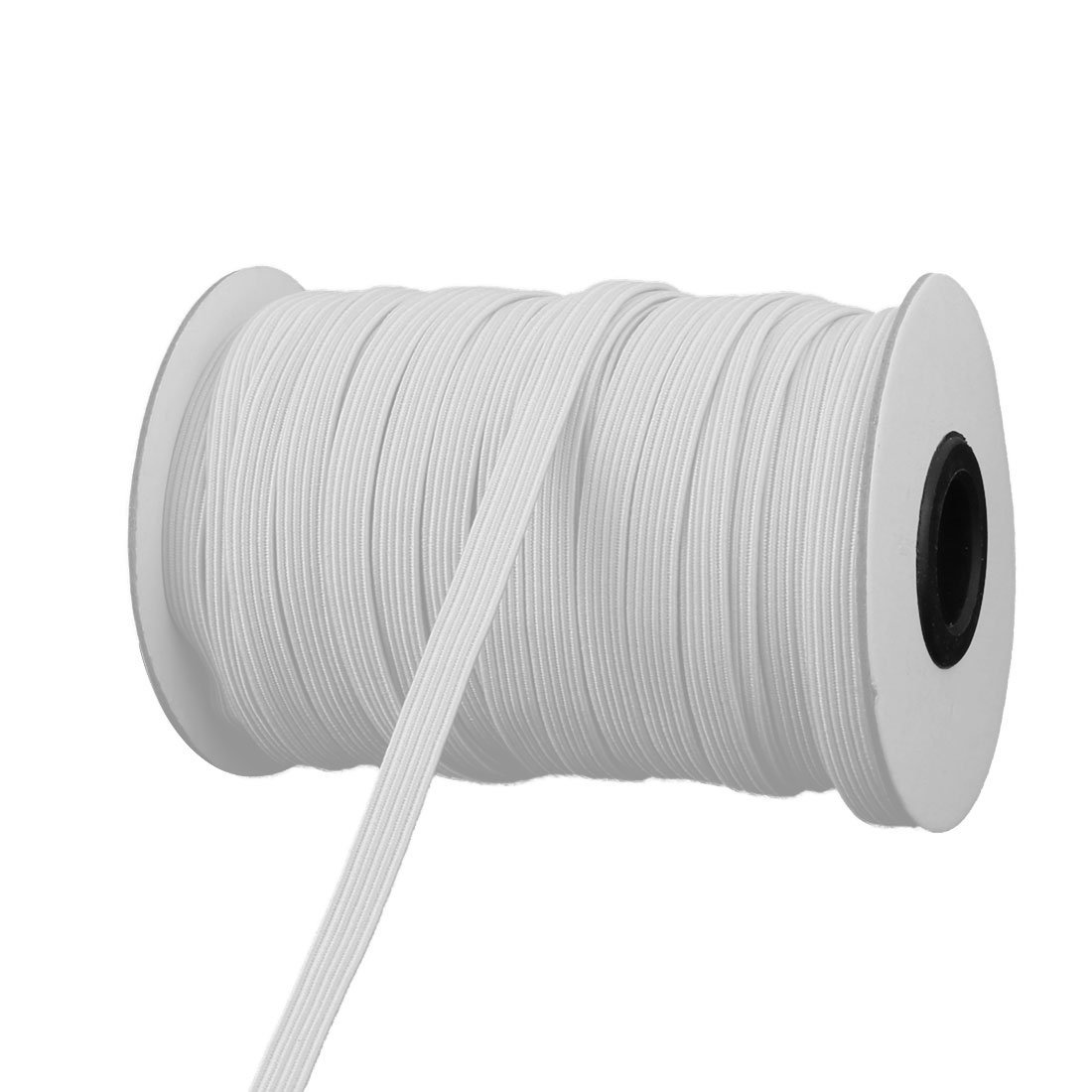 1/4  elastic white by roll