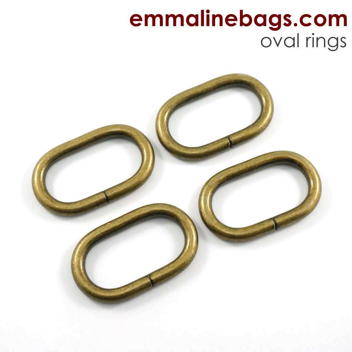 1-1/4 OVAL ANTIQUE BRASS O-RINGS