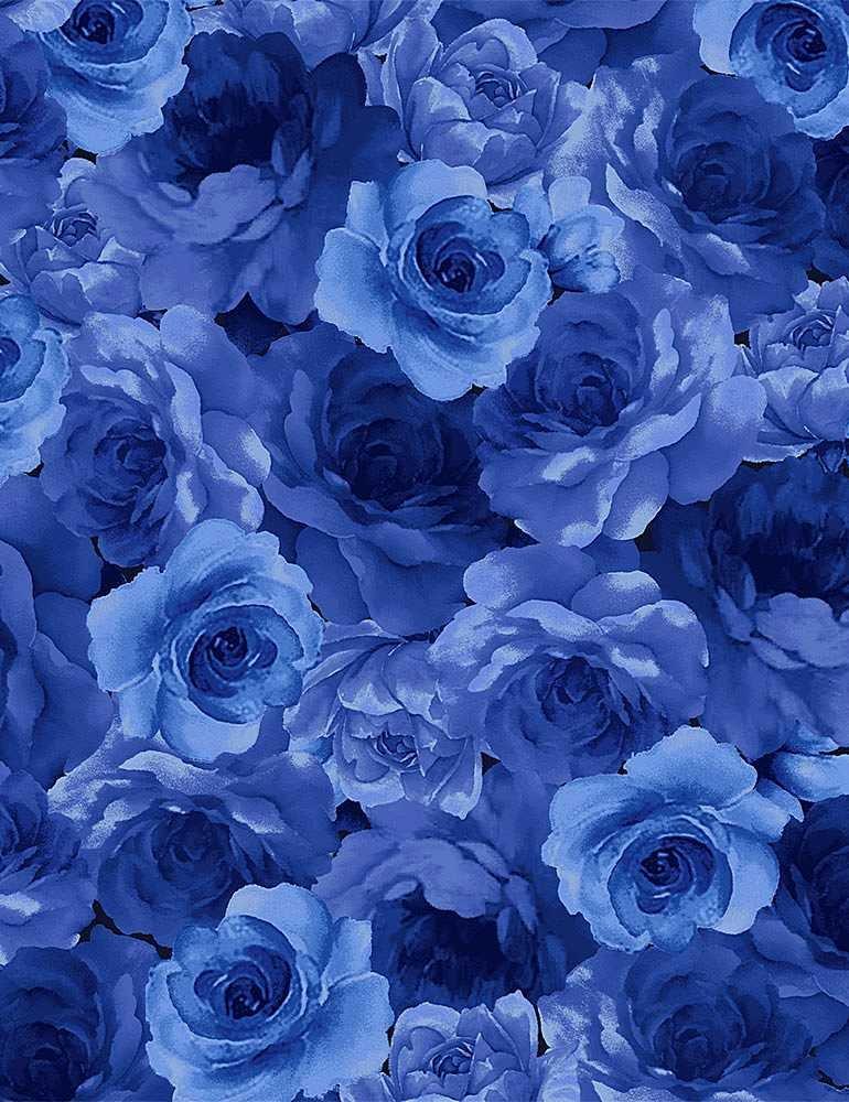 FLEUR - MED. BLUE FOWERS