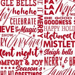 HOLIDAY WISHES - WHITE/LETTERS