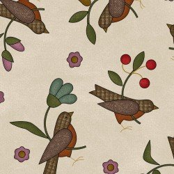 HOME SWEET HOME FLANNEL CREAM BIRDS