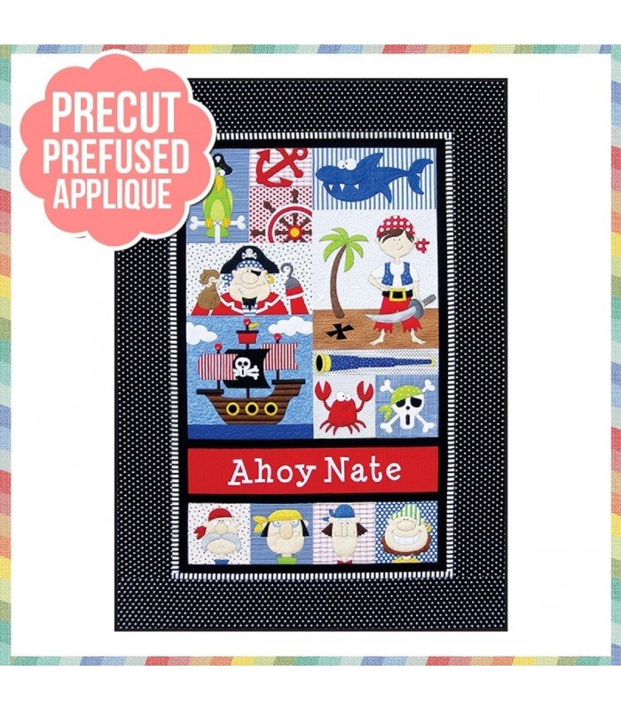 PIRATE BOY PRE CUT PRE FUSED APPLIQUE KIT