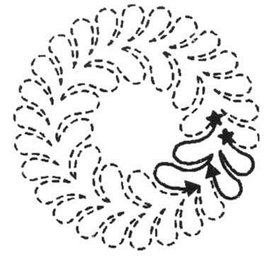 LARGE FEATHER CIRCLE STENCIL
