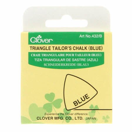 TRIANGLE TAILOR'S CHALK - BLUE