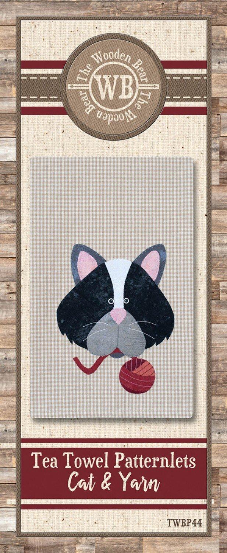 CAT & YARN TOWEL PATTERN
