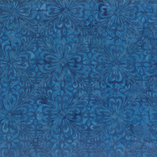 WILMINGTON BATIKS - BLUE FLORAL