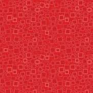 Squares & Dots Red