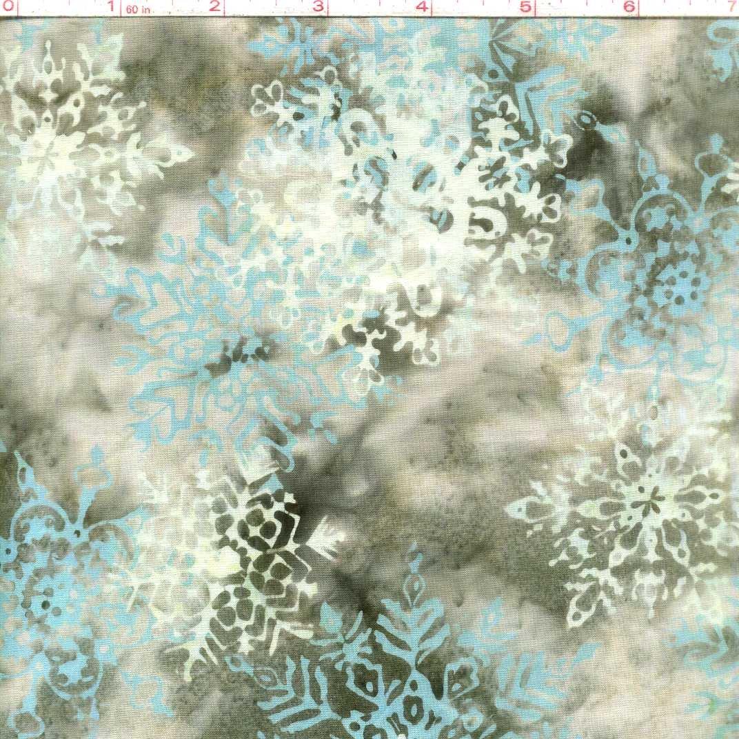 Hoffman Batik Blue Snow Flake