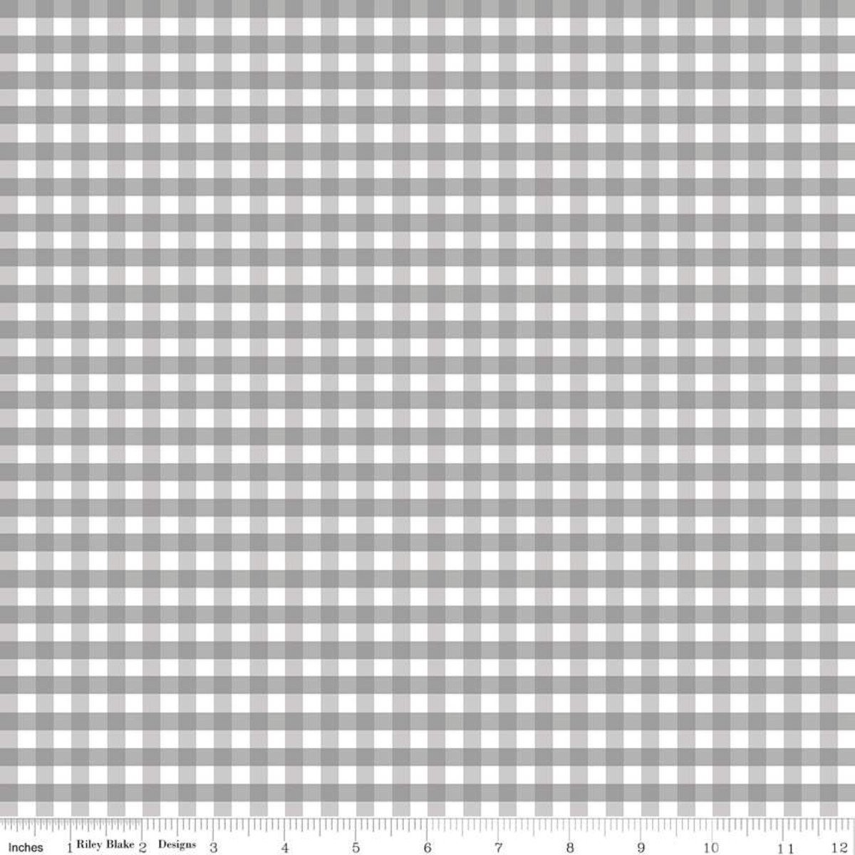 Grey Medium Gingham