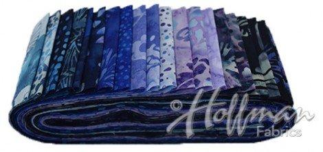 Hoffman Bali Poppy Blue Hawaiian