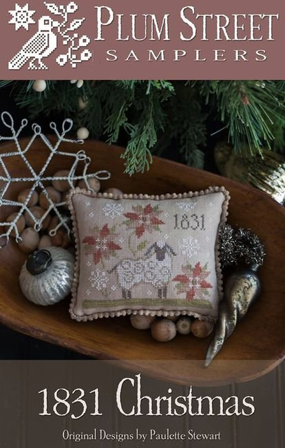 1831 Christmas counted cross stitch pattern