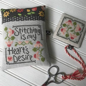 Stitching is My Heart's Desire Pillow Keep and Fob