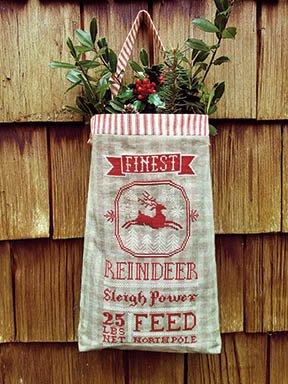 Reindeer Feed Sack