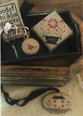 Farmhouse Sampler Pinkeep, Scissor Fob & Needle Book