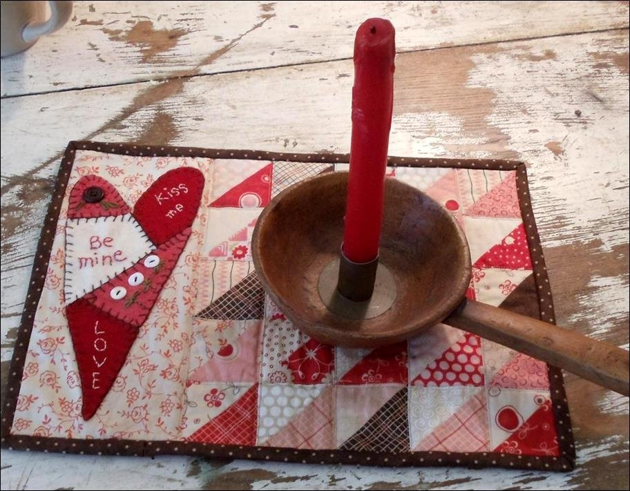 Be Mine Candle Mat