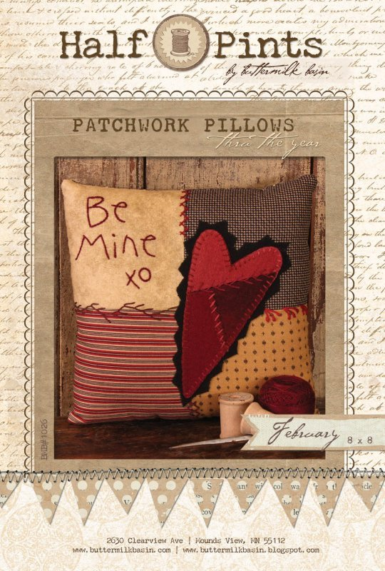 Be Mine Patchwork Pillow - February