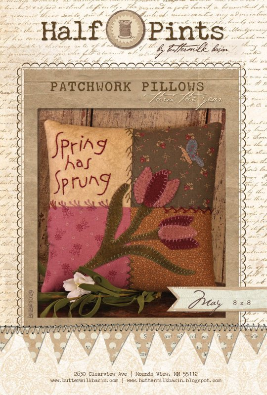 Spring Has Sprung Patchwork Pillow - May