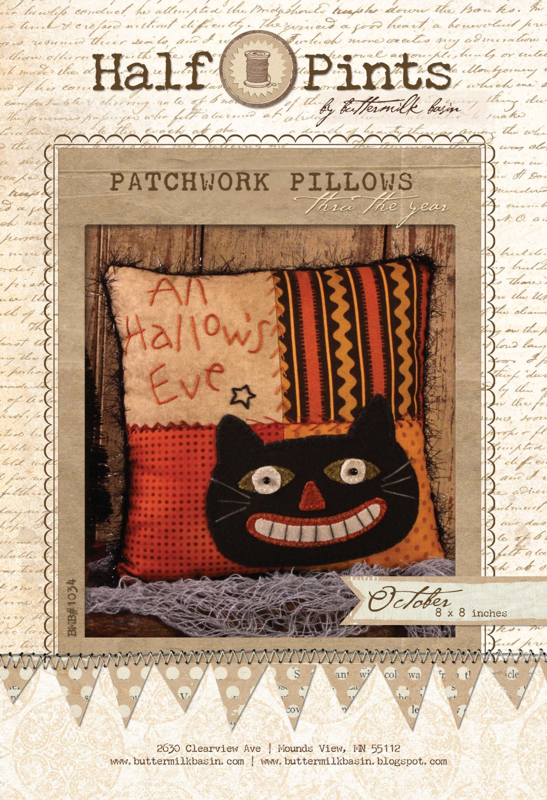 All Hallow's Eve Patchwork Pillow - October