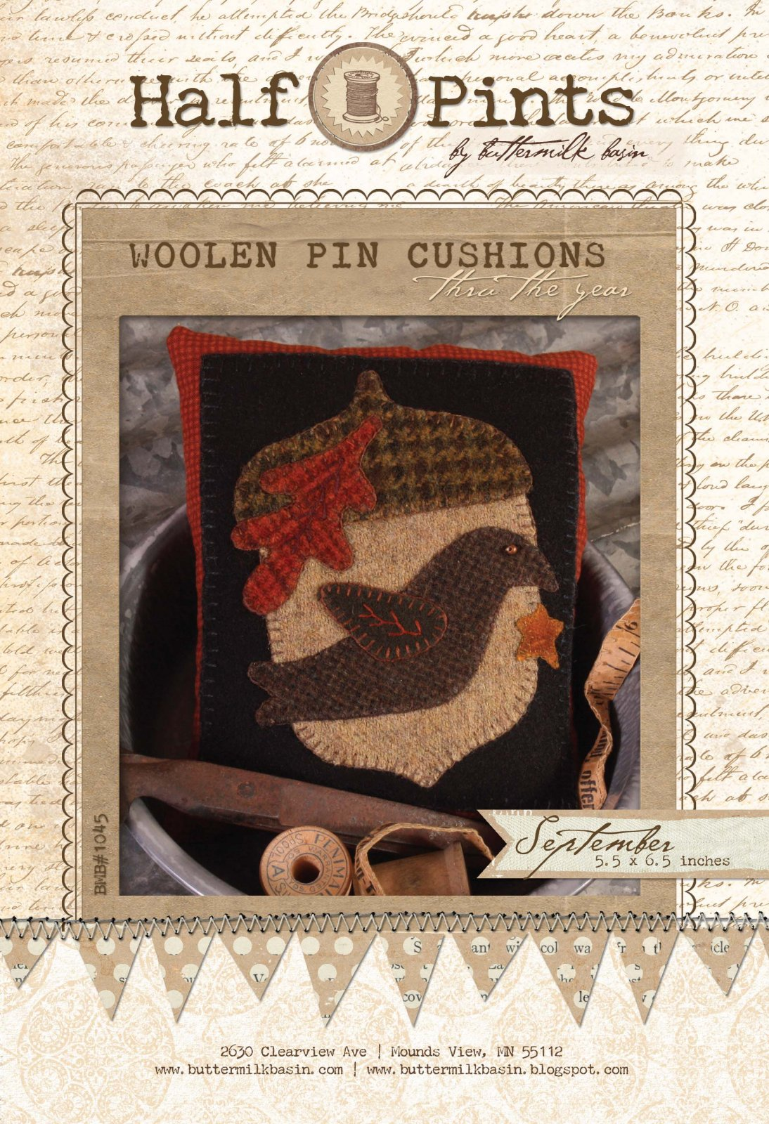 Woolen Pin Cushion - September