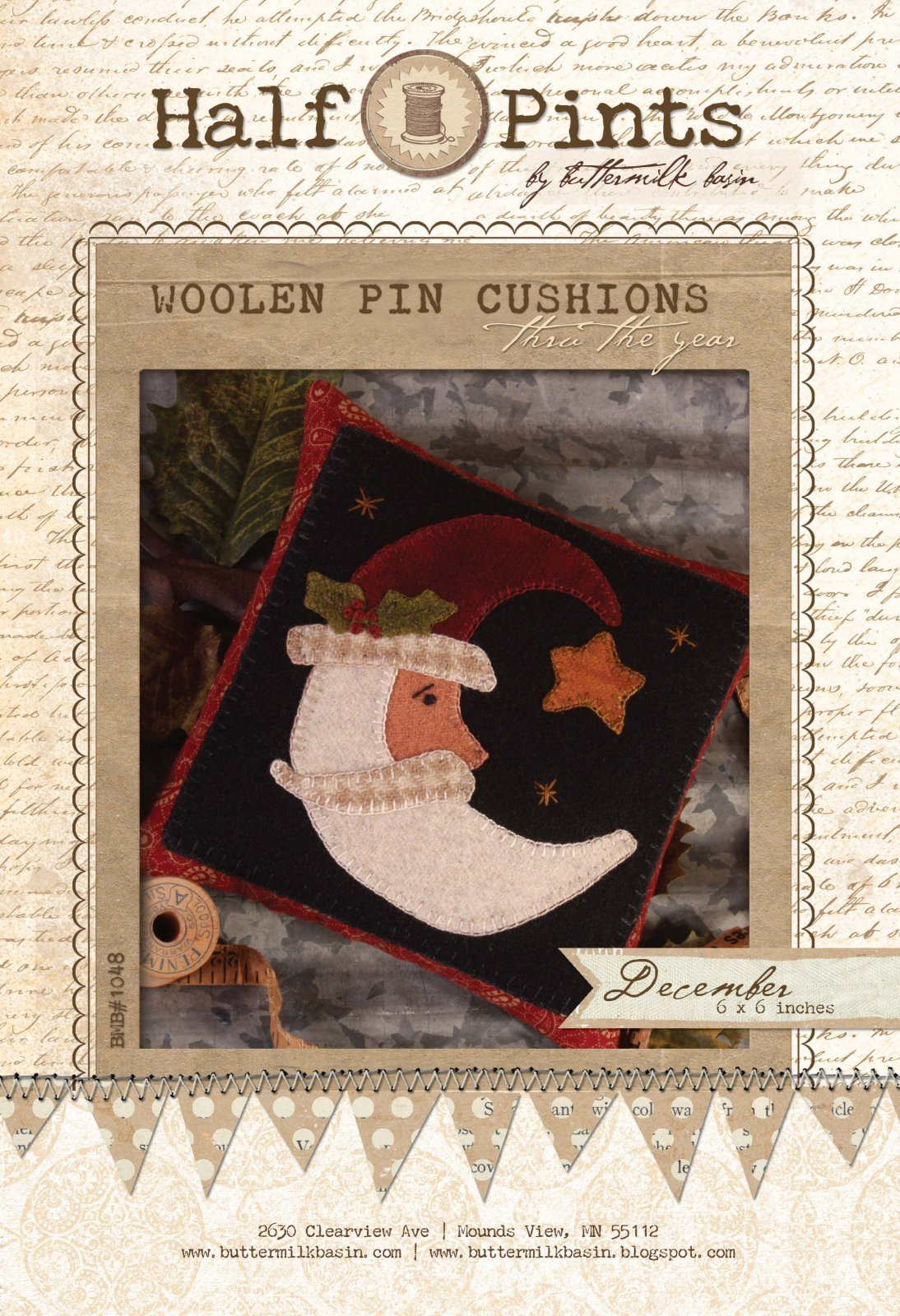 Woolen Pin Cushion - December