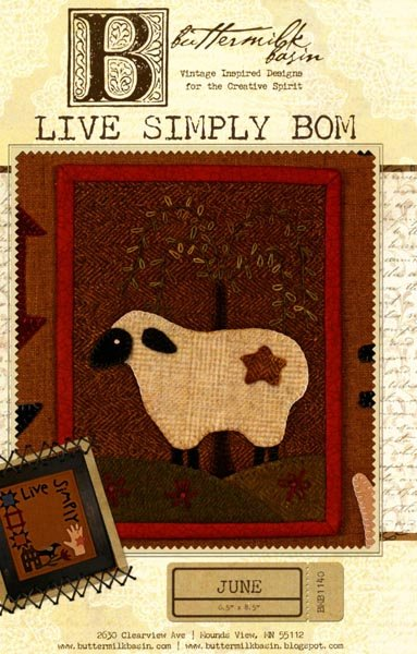 Live Simply Mini Quilt BOM - June