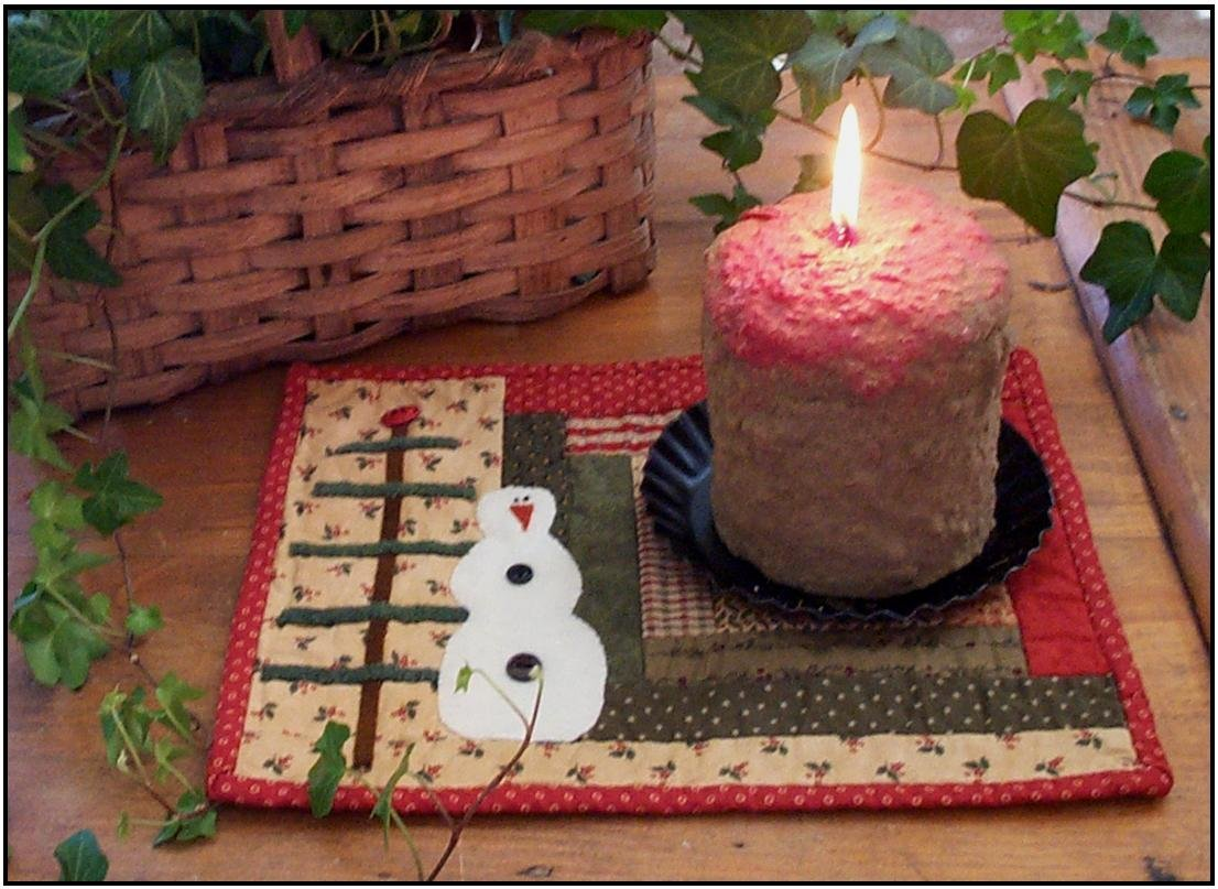 Christmas Candle Mat Pattern