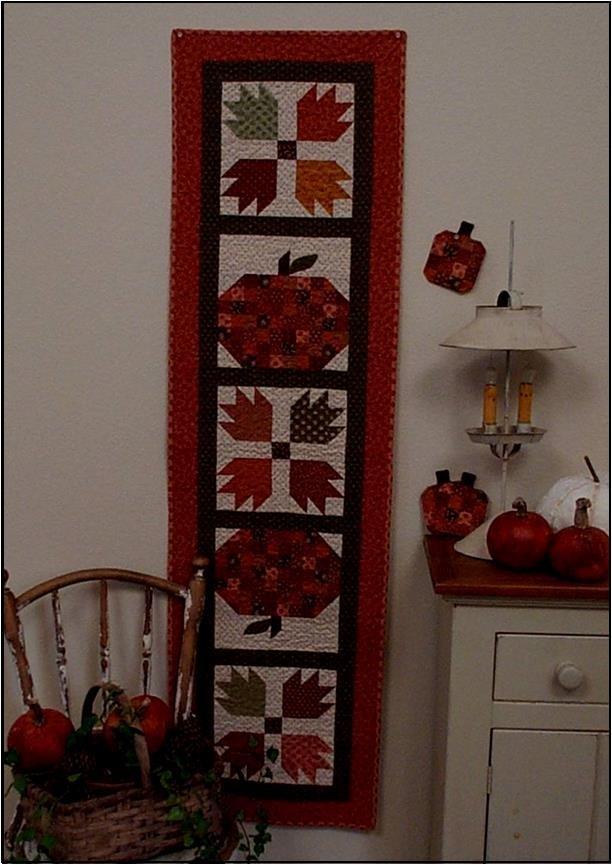Harvest Kitchen Table Runner and Mug Mats Quilt Pattern