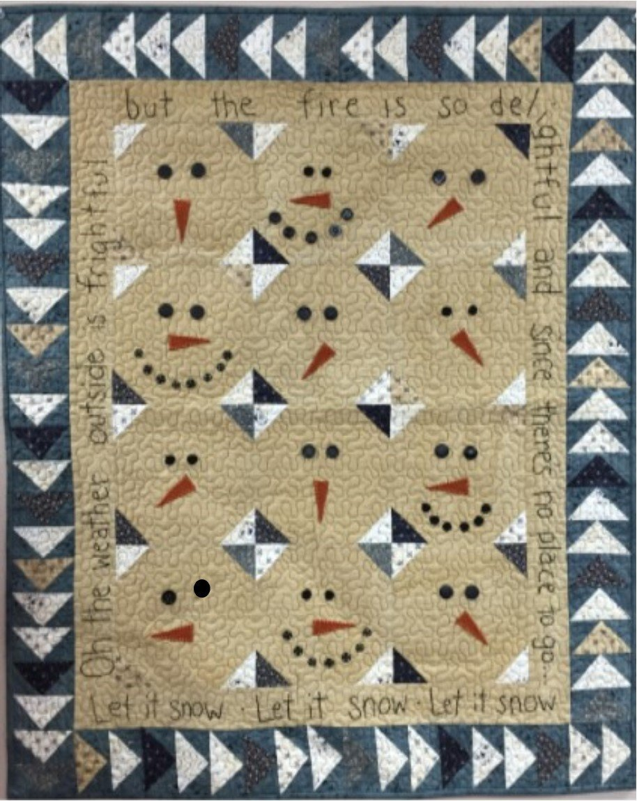 Let It Snow Wall Quilt pattern