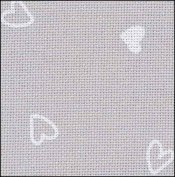32 ct Lugana Petit Hearts fabric  11 x 18